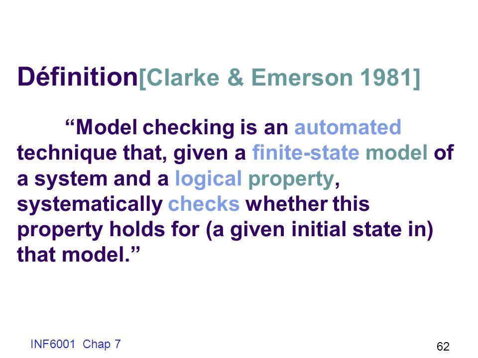 Définition[Clarke & Emerson 1981]
